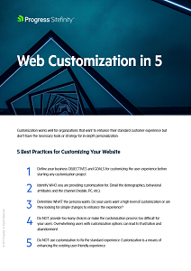 Web Customization in 5